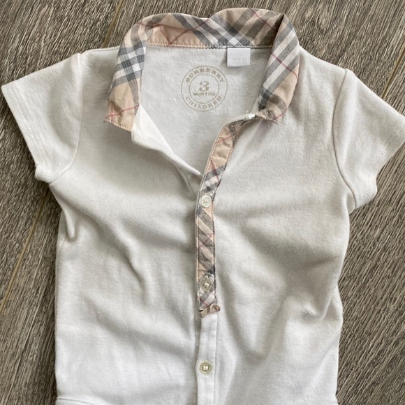 Burberry Other - Burberry baby check romper